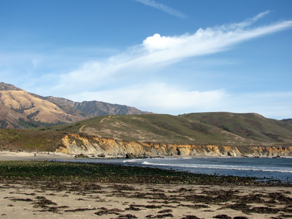 Big Sur beach and sky