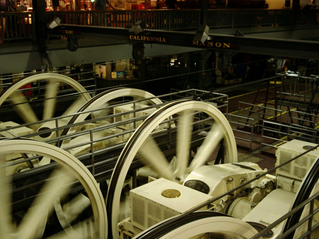 Winding wheels and engines at the Cable Car Museum